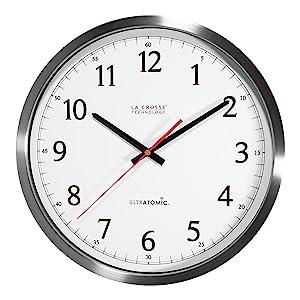 lacrosse, la crosse technology, time, clock, 404-1235, 404-1235UA-SS, 14 INCH, Atomic, self set