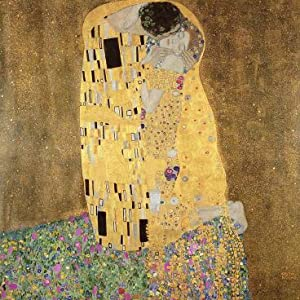 This is one of Klimts's best-known works. It is called The Kiss.