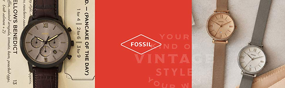Fossil watches, fossil traditional watch, ladies watch, fashion watch