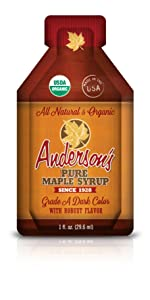 Anderson's individual organic Maple Syrup Pouches