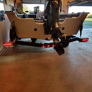Submersible Rectangular Trailer Light Kit
