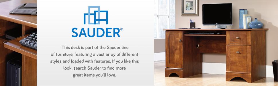 Sauder Computer Desk in a Brushed Maple finish