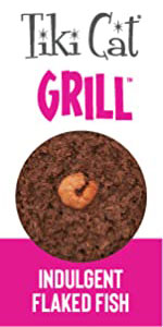 grill succulent indulgent flakey fish high protein meat carnivore flavor soft chunky wet can meal