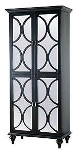 Wonderful ... Tall Black Mirrored Door Wine Cabinet ...
