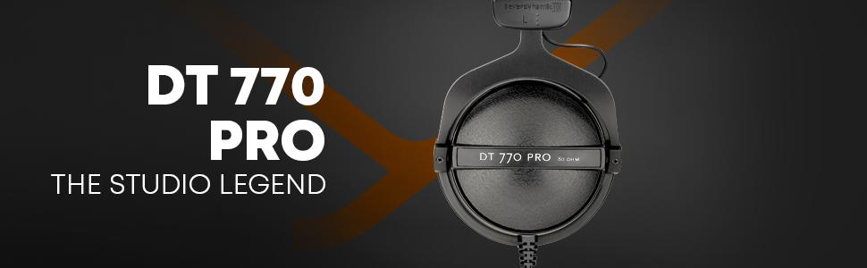beyerdynamic DT 770 PRO 80 Ohm Studio Headphone for professional recording  and monitoring