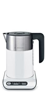 Bosch TWK8611P Hervidor de Agua, 2400 W, 1.5 litros, Color Blanco ...