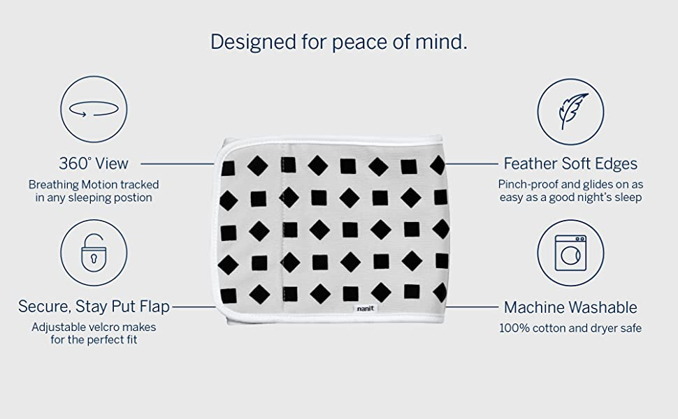 designed for peace of mind: 360 view, secure flaps, feather soft edges, machine washable