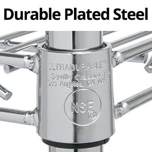 sevilleclassics chrome steel metal iron plated zinc nsf  durable garage warehouse stock room storage