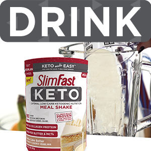 SlimFast Keto Meal Replacement Shake Powder, Vanilla Cake Batter, 12 2  Ounce, Pack of 1