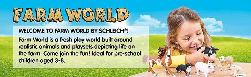 SCHLEICH Farm Life 4 x 42304 tavole RECINZIONE CON CANCELLO neu/&ovp