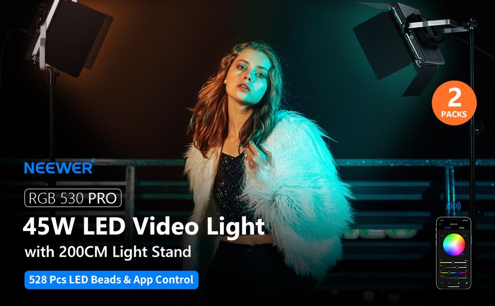 with Barndoor/U Bracket for Gaming,Streaming,Zoom,YouTube,Webex ...