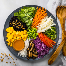 Healthspan solution recipe, salad.