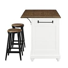Amazing Dorel Living Kelsey Kitchen Island With 2 Stools White Unemploymentrelief Wooden Chair Designs For Living Room Unemploymentrelieforg