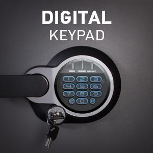 Set Your Own Combination Safe, Safe with Backup Key, Digital Safe