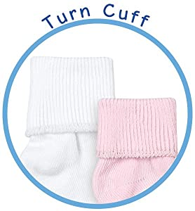 Jefferies Socks newborn, baby, girl, boy turn cuff socks