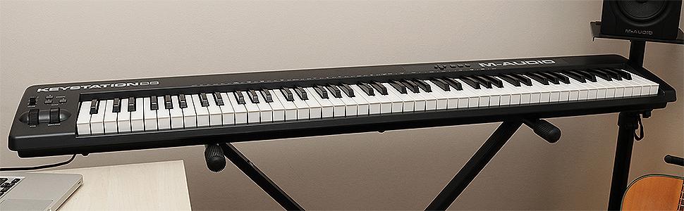 M-Audio Keystation 88 II -Teclado MIDI y controlador USB con 88 ...