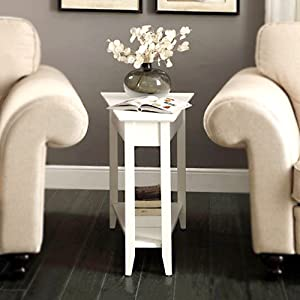 Amazon Com Convenience Concepts American Heritage Wedge End Table