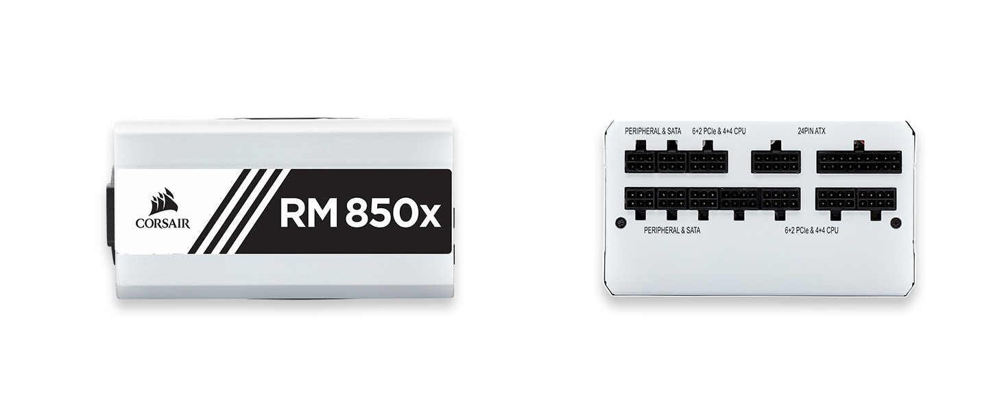 CP-9020188-NA RMx White Series RM850x 850 Watt 80 PLUS Gold Certified Fully Modular PSU
