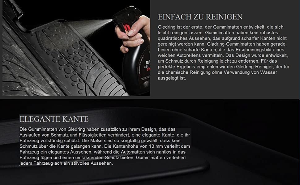 Gledring Satz Gummimatten Renault Twingo Iii 2014 T Profil 4 Teilig Montage Clips Auto