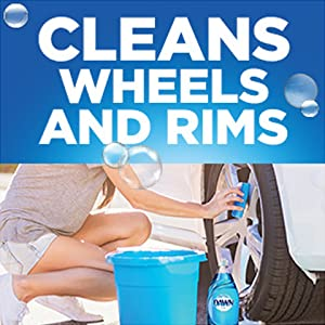 Cleans wheels and rims