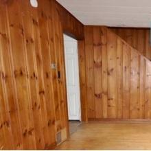 Wood panel walling before priming