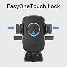 SmartTap Qi ワイヤレス充電 オートホールド式 車載ホルダー EasyOneTouch3 wireless ( 急速充電対応 伸縮アーム 粘着ゲル吸盤 ) EWC-9000