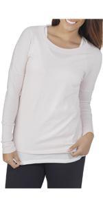 Essentials, long sleeve, scoop neck tee, ladies, comfy