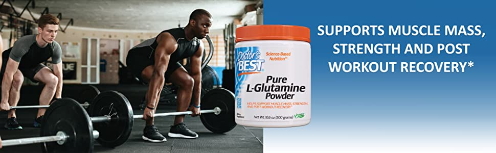 Pure L-Glutamine Powder muscle mass and strength muscle hydration post-workout recover