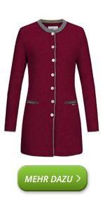 Gonna da passeggio da donna, in lana vergine, giacca lunga