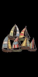 Sailboat Sail Boat Metal Hanging Wall Art Ocean Coastal Décor Sculpture *62 cm*