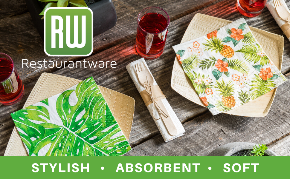 Clean up messes with style with our collection of decorative napkins.