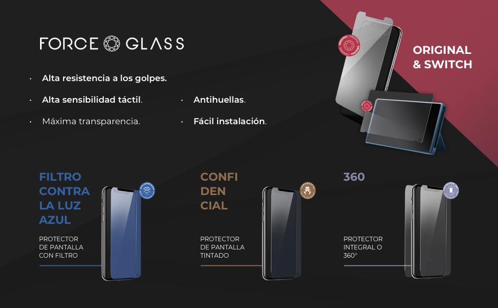 Force Glass Protector Pantalla Modelos