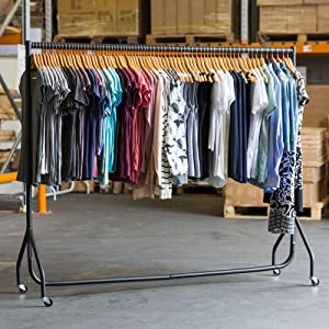 shopfitting warehouse black heavy duty clothes rail. Black Bedroom Furniture Sets. Home Design Ideas