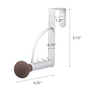 Dimension image for Over-the-Door Hanging Rod on a white background