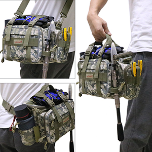 Details about  /Shoulder Bag Fishing Gear Fishing Waterproof Tactical Portable Nylon Backpack