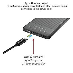 type c powerbank, fast charging