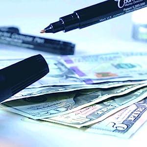 drimark, dri mark, dri-mark, counterfeit, money, pen, cash, counterfeit detector, light, uv