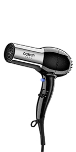 conair hair dryer, compact hair dryer, portable hair dryer, travel hair dryer