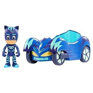 catboy and cat-car, catboy and cat car, cat boy and cat car toy, blue car