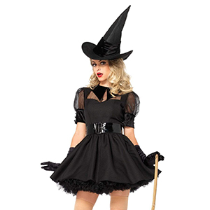8344 Witch Halloween Dress Costume Outfit Stocking 8//10
