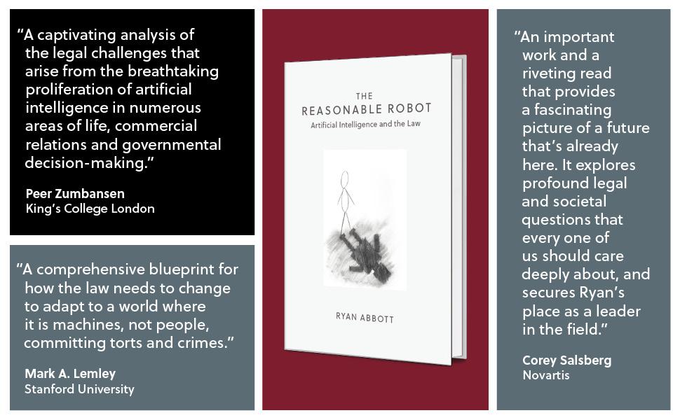 The Reasonable Robot, Cambridge University Press, Ryan Abbott, Artificial Intelligence and the Law