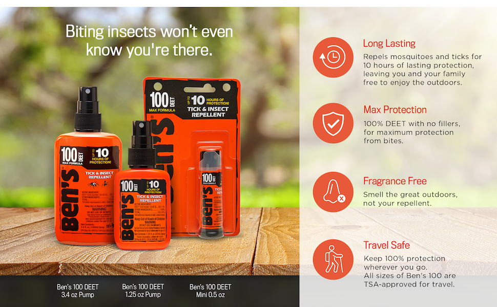 Long Lasting Max Protection Fragrance Free Travel Safe
