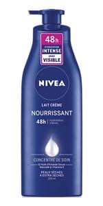 lait crème hydratant nourrissant soin doux douce peau souple huile d'amande douce lisse nourrie sent