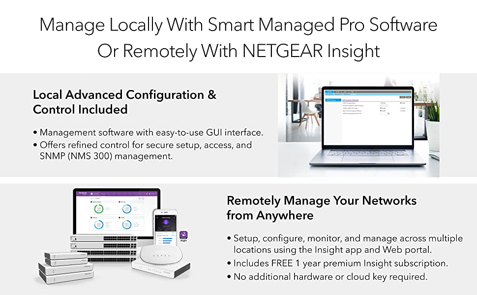 manage locally with advanced smart managed