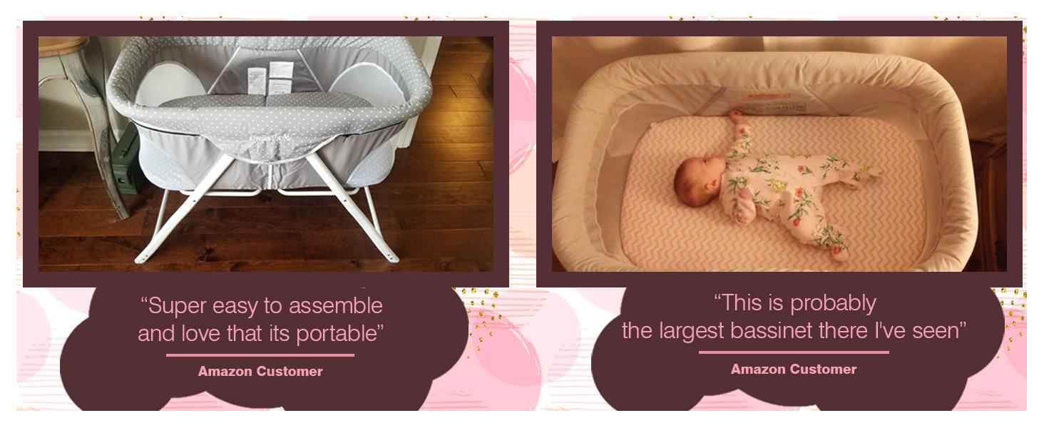traveler portable bassinet,breathable bassinet,mesh bassinet,lightweight bassinet,travel bassinet