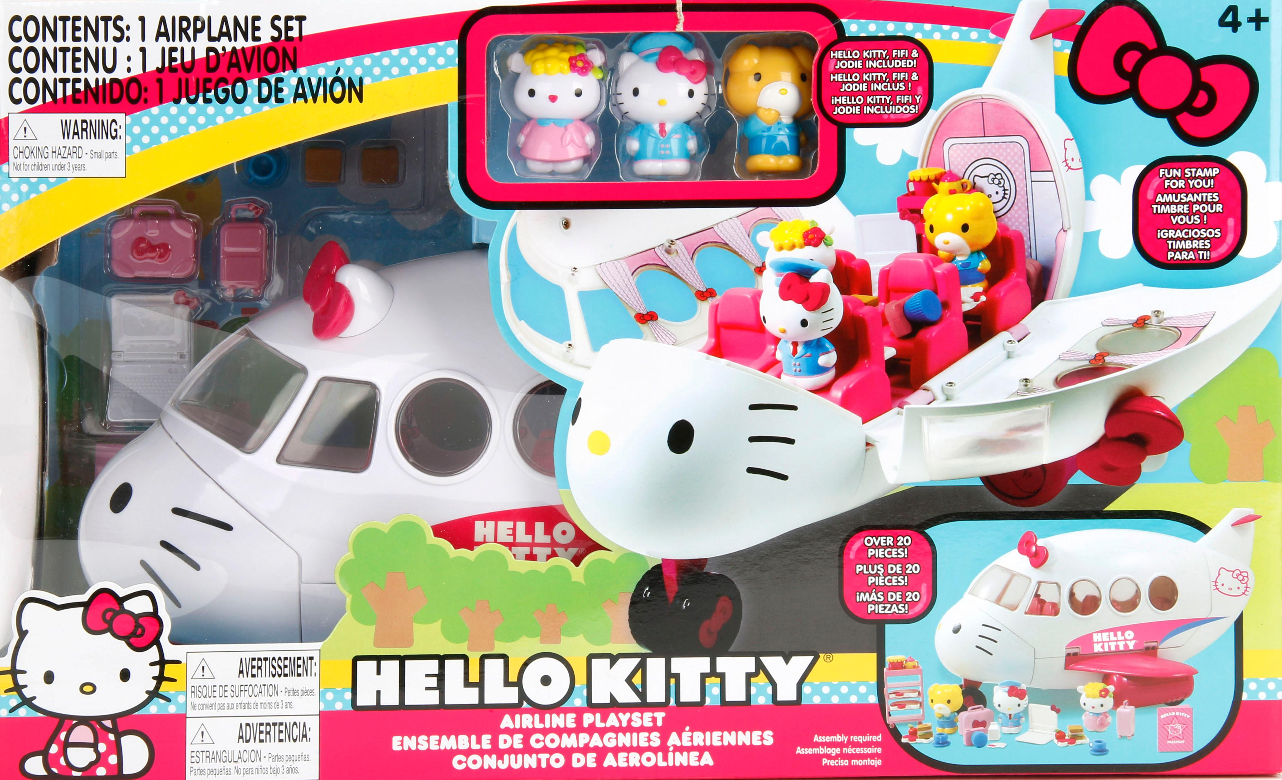 Jada Toys Hello Kitty Jet Plane Play Set Vehicle Playsets