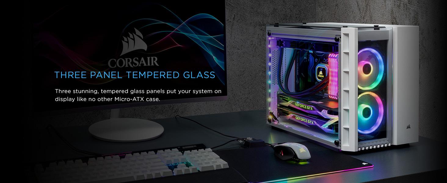 Amazon Com Corsair Crystal 280x Rgb Micro Atx Case 2 Rgb