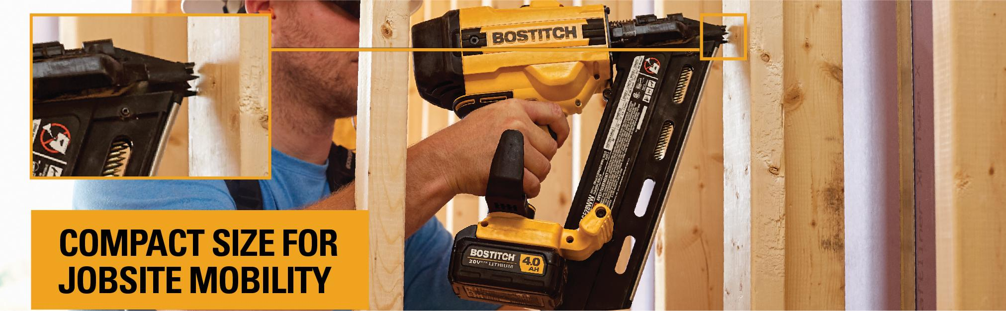 BOSTITCH BCF28WWB 20V MAX 28° Wire Weld Cordless Framing Nailer ...