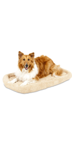 crate pad bolster bed for dog kennel