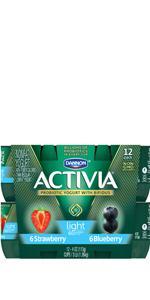 ... Dannon Activia Probiotic Nonfat Yogurt, Strawberry & Blueberry ...